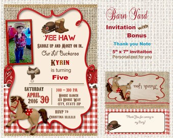 cowboy invitation western invitation party invitation etsy