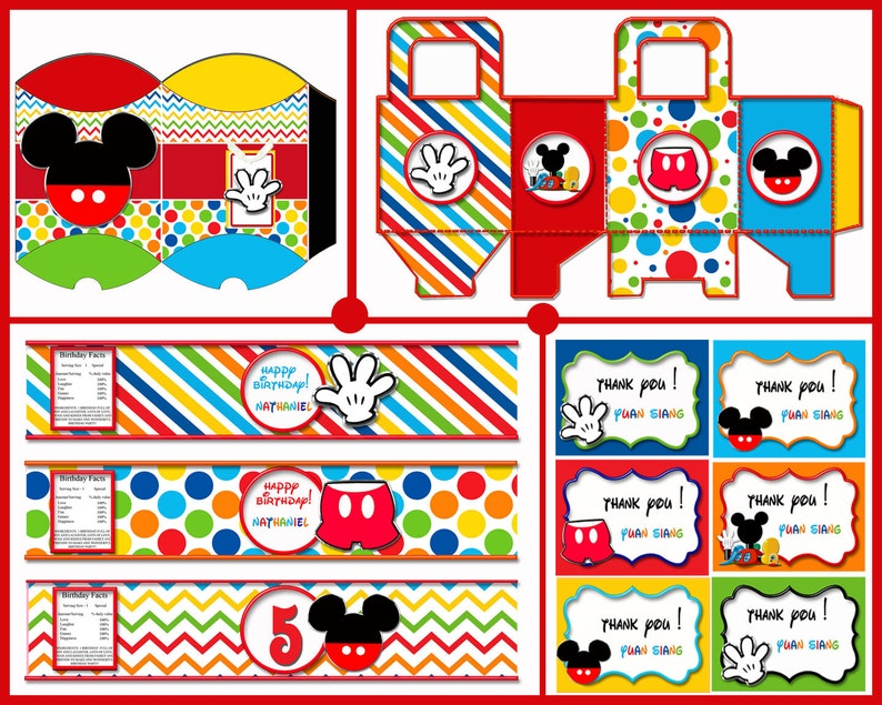 Mickey Mouse Birthday Decorations Party Favors