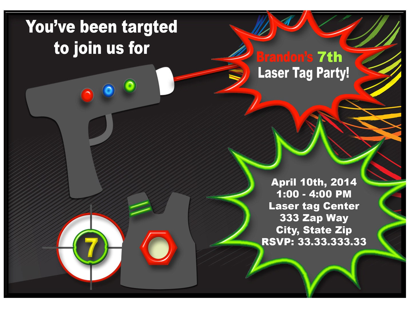 Famous Laser Party Invites Gift - Invitations Design Inspiration ...