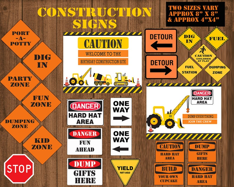 photo about Free Printable Construction Signs identify Framework Social gathering signs or symptoms, Framework Birthday occasion, Framework signs and symptoms, transport, structure bash decor, electronic dump truck