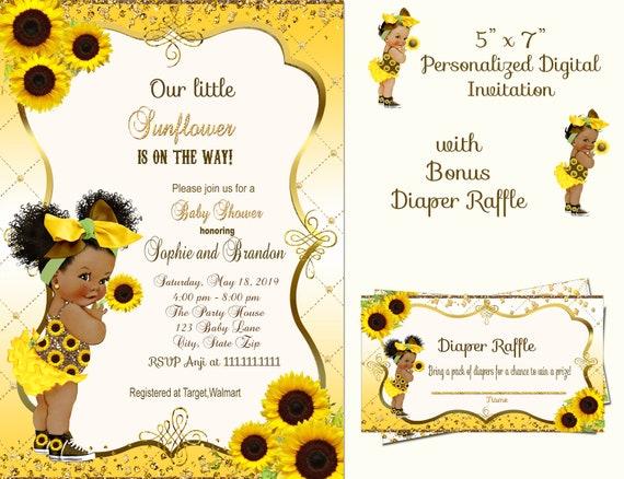 Sunflower Baby Shower Invitation Neutral Yellow Floral Printable Invite Sunflower Vintage Birthday Invitation Digital