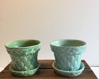 McCoy Quilted Flower Pots
