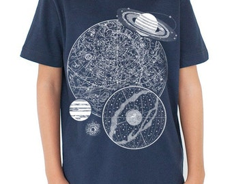 300d337d049a Night Sky Astronomy Glow in the Dark Youth T-Shirt
