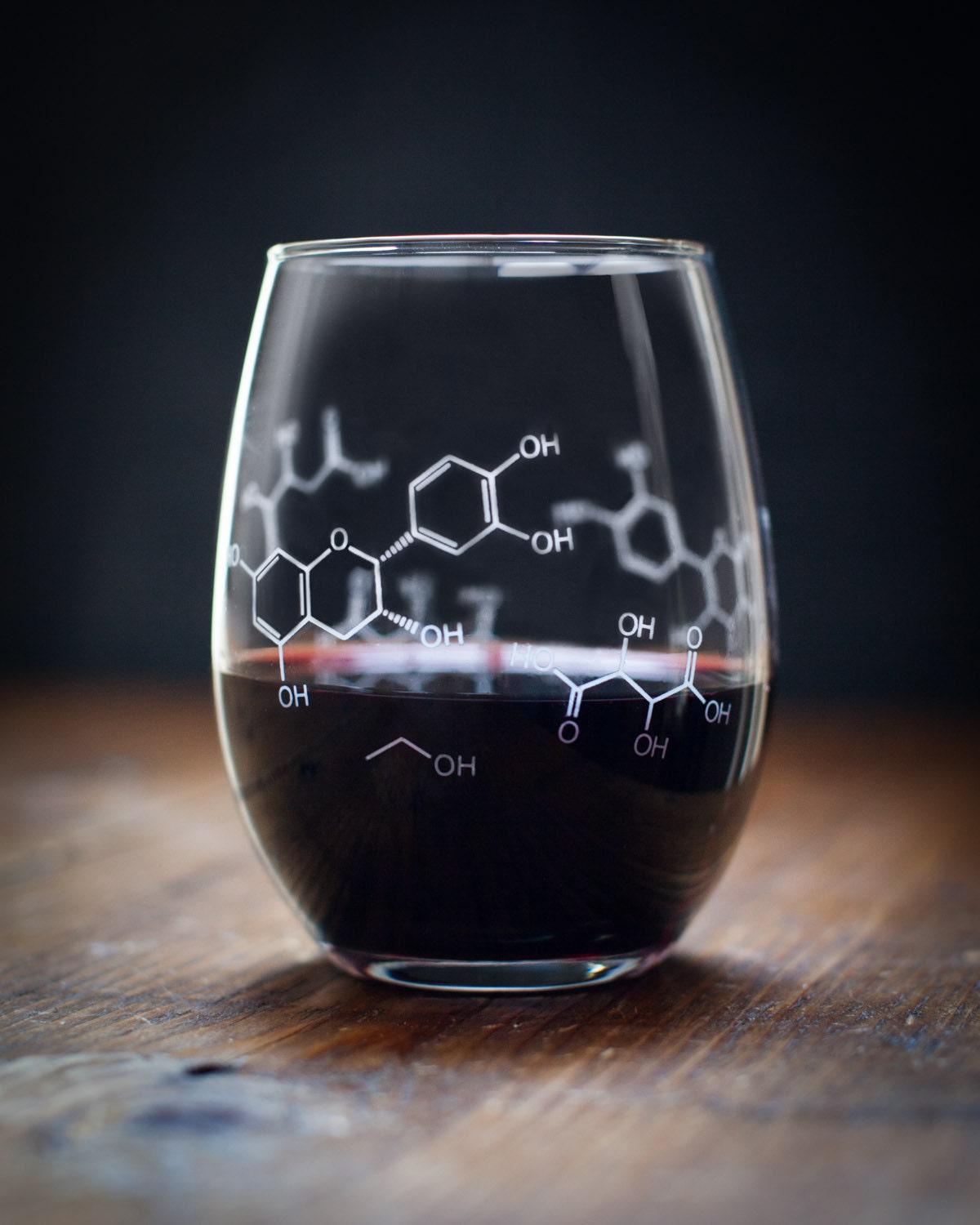 Chemistry Gift, Wine Molecule Stemless Glass, Science Geek Christmas Girlfriend Gift, Wine Tumbler Nerdy, Unusual Wine Glasses, Goblet Wine
