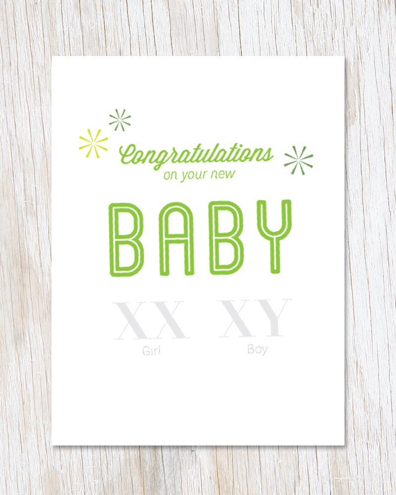 Congratulations On New Baby Greetings Card New Arrival Etsy