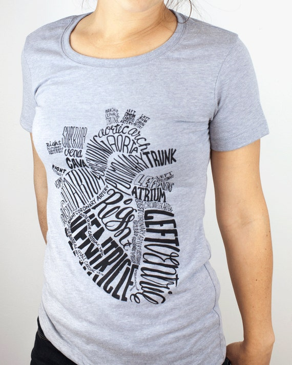 Anatomical Heart T-Shirt Nursing Nurse Science Tee Anatomy | Etsy
