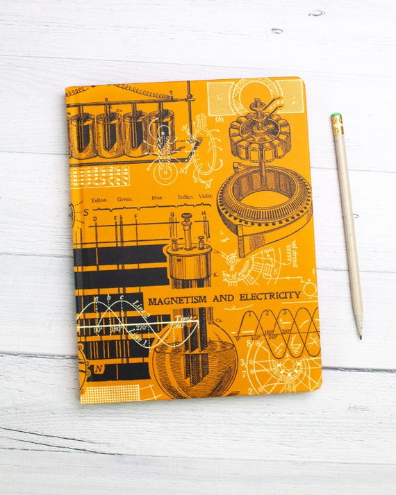 Electromagnetism Notebook   Dotted Journal, Electrical Engineer, Physics  Gift, Dot Grid Journal, Graph Paper Notebook