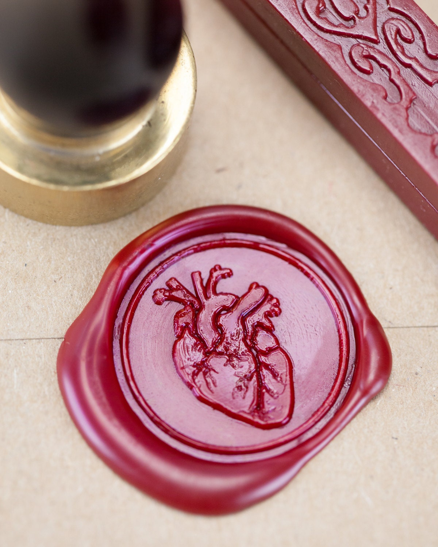 Anatomical Heart Wax Seal Stamp Kit Nurses Gift Heart