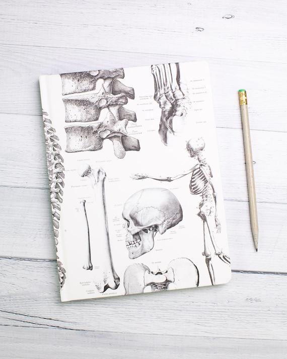 Skeleton Notebook Anatomy Bullet Journal Medical Hardcover | Etsy