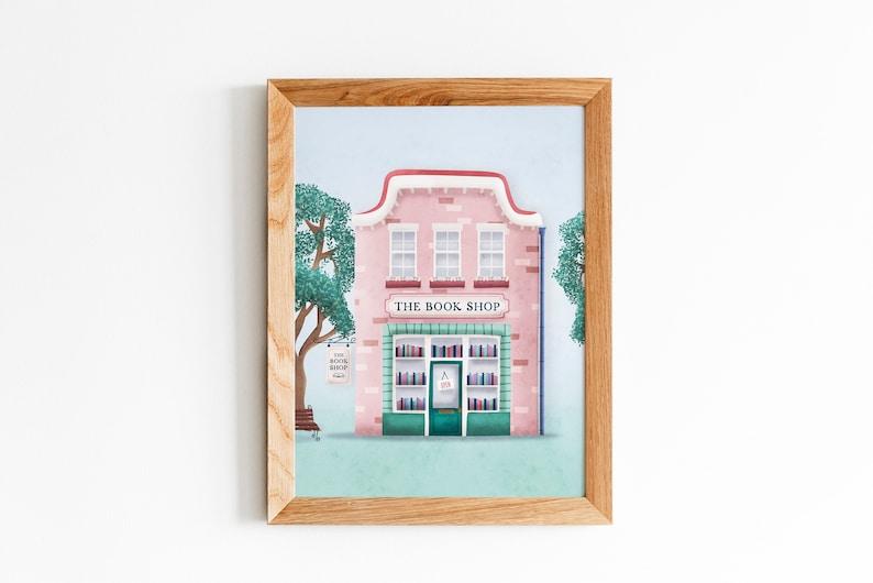 The Book Shop  Art print image 0