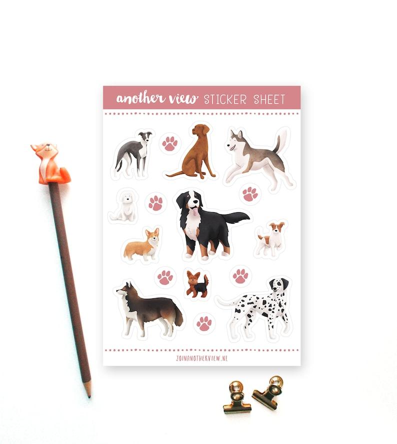 Dog breeds 02  Sticker sheet image 0