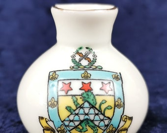 Nautical Crest Miniature Curio Miniature China Antique Crested China Monmouth History Enameled China Seal of Monmouth Arcadian China