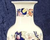 Large Vintage Vase, Mason 39 s Ironstone, Mandarin Pattern, Modern Chinoiserie, Flower Display, Colorful Vase, Imari Palette, 12 Inches High