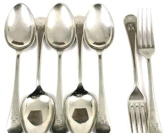 James Dixon Flatware Set of 5 Forks Vintage England Collectible JUST REDUCED
