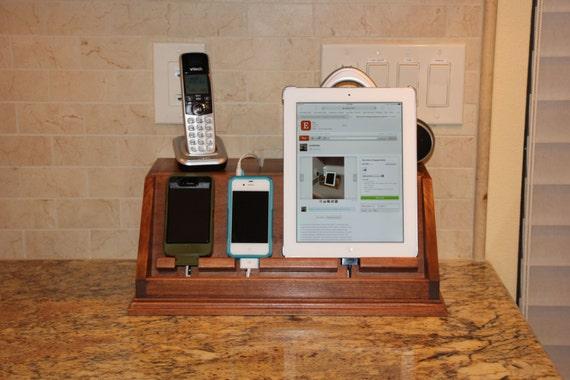 electronic device charging station etsy. Black Bedroom Furniture Sets. Home Design Ideas