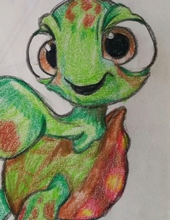 Disegno A Matita Colorata Di Disney Che Trova Nemo Squirt Etsy