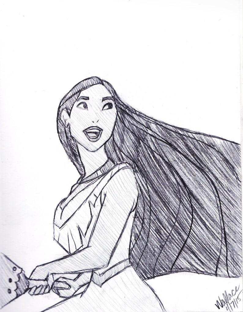 Pocahontas Disney Skizze Zeichnen