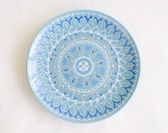 Blue decorative plate - Wall hangings - Winter plate - Blue plate - Unique decor - Home gifts - Wall decor