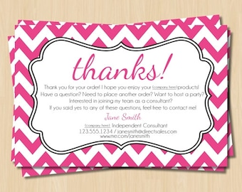 Direct Sales Thank You Card