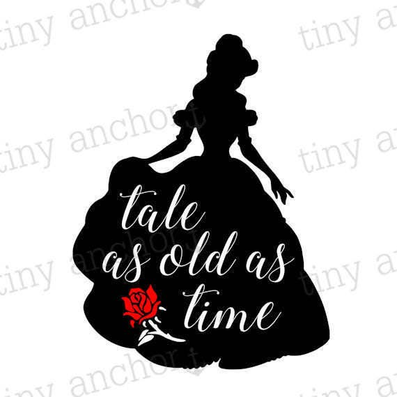 Printable Tale As Old As Time Belle Silhouette Beauty And The Etsy