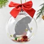 Cat Christmas Ornament, Gray Cat Christmas Ornament, Cat Memorial Ornament, Silver Cat Ornament, Russian Blue Cat Ornament