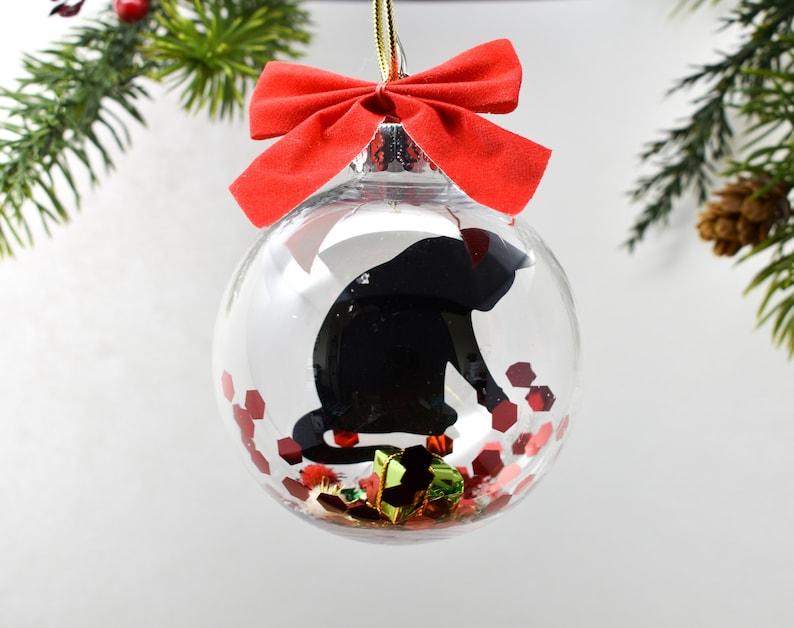 Cat Christmas Ornament Black Cat Christmas Ornament Cat image 0