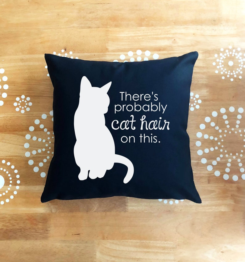 Funny Cat Throw Pillow Cover Cat Throw Pillow Glitter Throw image 0