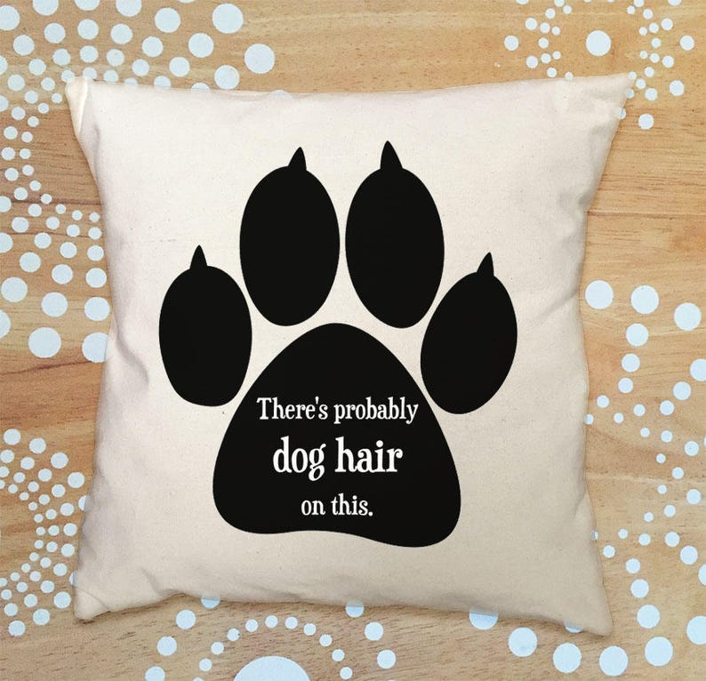 Dog Pillow Cover Throw Pillow Cover Dog Hair Pillow Cover image 0