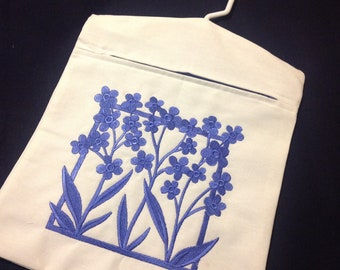 Clothes Pin Bag, embroidered clothes pin bag, embroidered peg bag