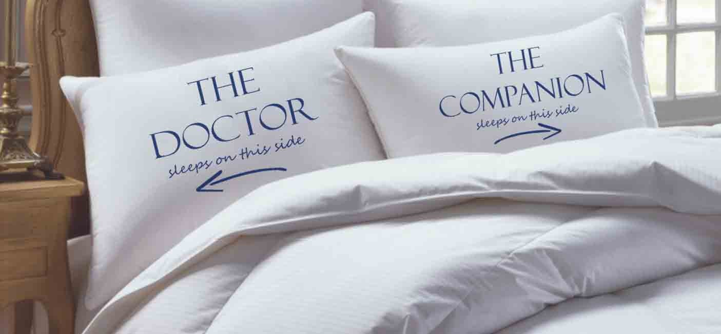 Doctor Who Tardis Personalized Custom Pillowcase set
