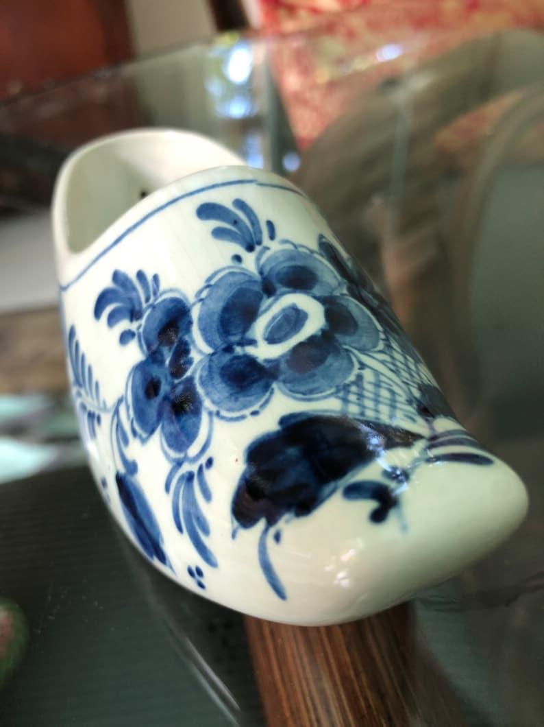 Royal Delft Shoe Blue Delft Collectible Hand Painted Excellent Condition