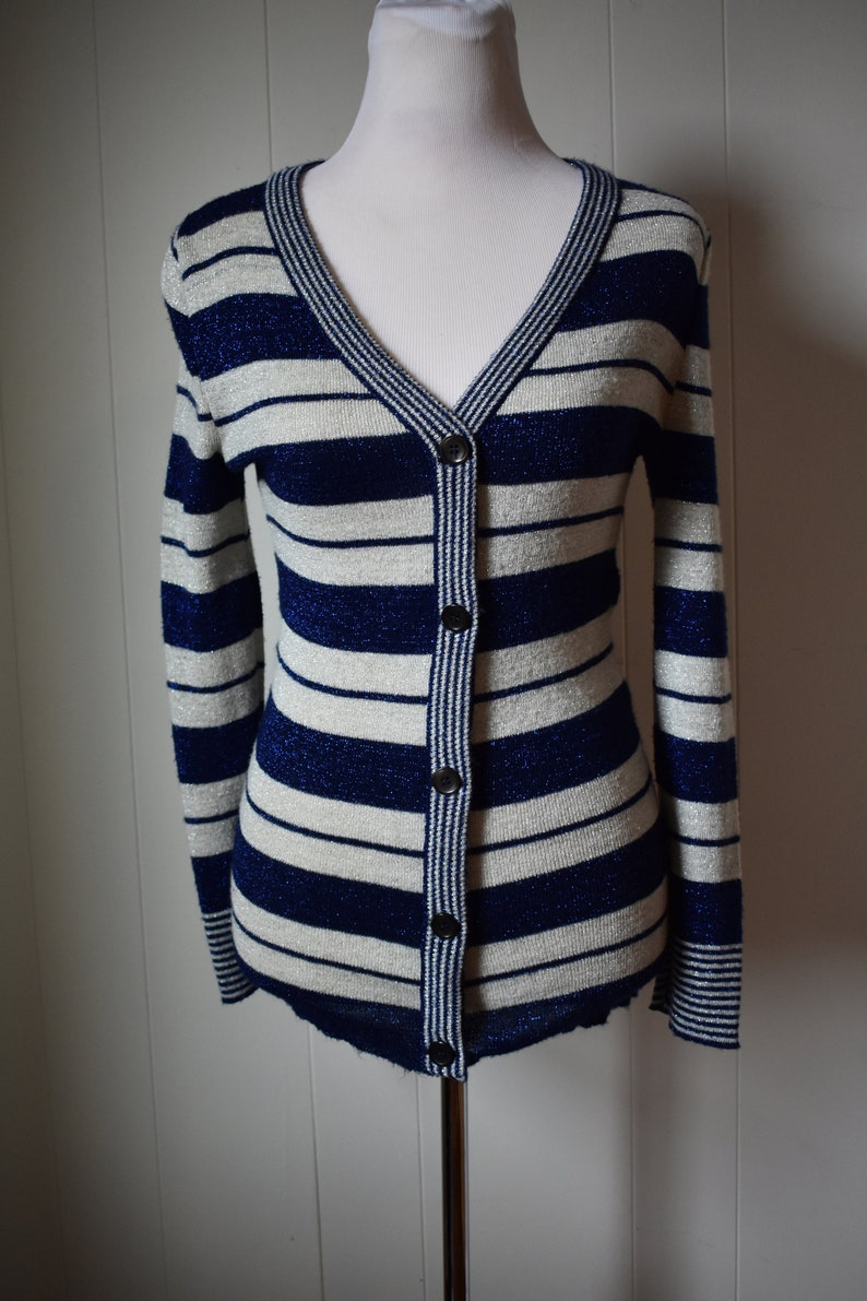 Striped sparkly cardigan