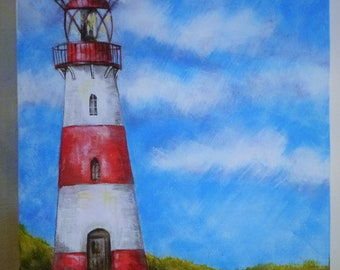 Lighthouse. Original acrylic painting on canvas by Lorraine Ashley