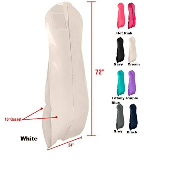 Personalized Gusseted Solid Color Xtra Long Garment Bag For Etsy