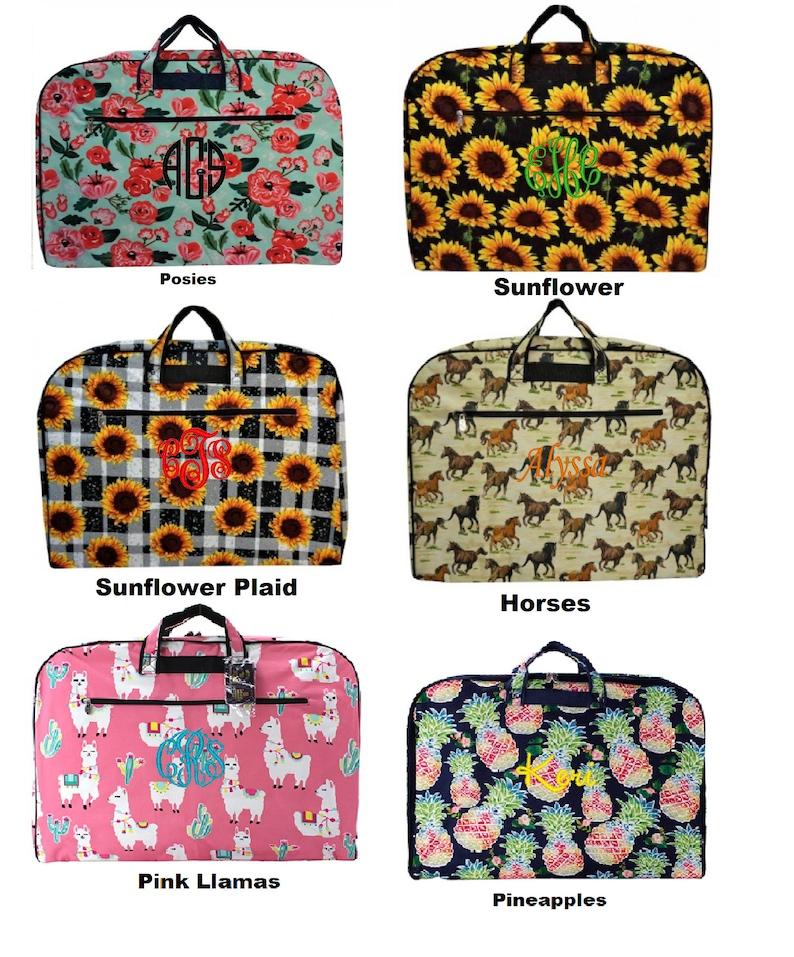 Beautiful Personalized Garment Bag. Many new beautiful image 1