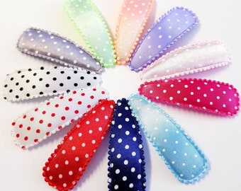 Set of 5 no more baby hair clips hair clips 5 cm dots