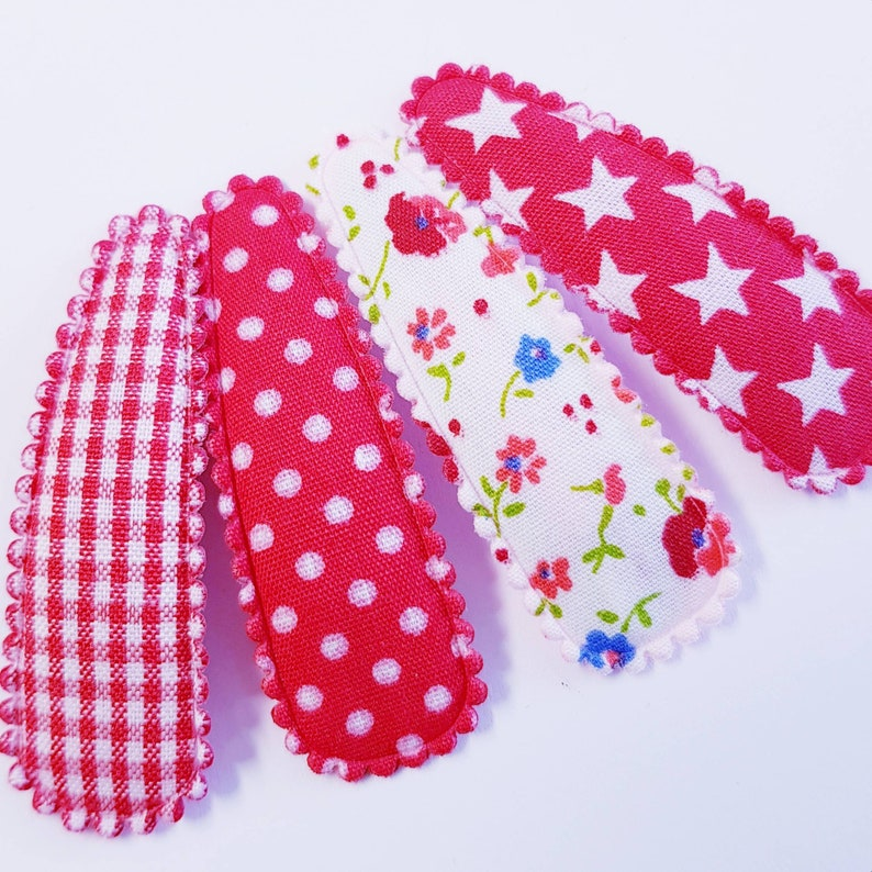 Set of 4 No baby More hair clips 5 cm