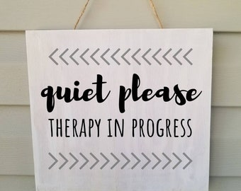 quiet please sign etsy