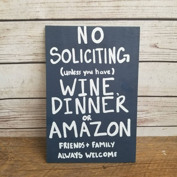 No Soliciting Sign Funny No Solicitation Do Not Knock Door