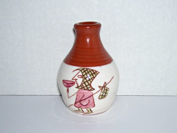 Oneill Pottery Small Vase Waterford Ireland Hobo Figure Etsy