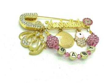 Ayatul Kursi pin, Mashallah pin, Eid Mubarak gift, Islamic baby gift, Allah stroller pin, Muslim baby gift, Arabic jewelry, evil eye pin