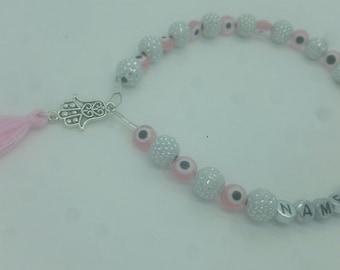 Personalized name tasbih 33 beads, muslim prayer beads 33 beads, Muslim islamic Gift, Eid Mubarak gift, Misabaha, Musalah,  Rosary Tasbeeh