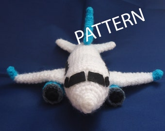 PDF CROCHET PATTERN Airplane Toy Amigurumi