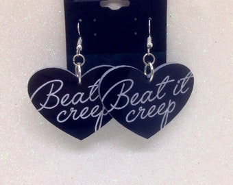 Beat it creep earrings