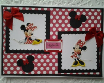 Envelope flip book featuring Minnie Mouse handmade photo book