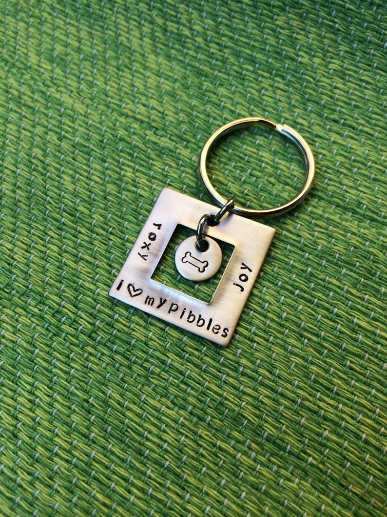 Cat Lover Keychain Pibble -Pet Lover Keychain Pitbull Love Keychain Dog Lover Keychain Pitbull