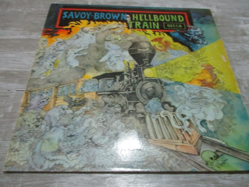 91108af63c Vintage 1972 Vinyl LP Record Savoy Brown Hellbound Train | Etsy
