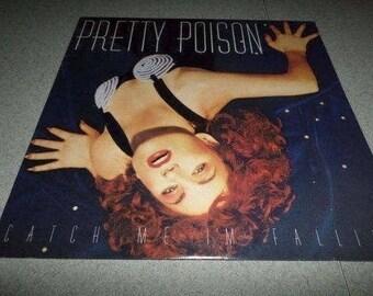 Vintage 1988 Vinyl LP Record Pretty Poison Catch Me I'm Falling Near Mint Condition 2486