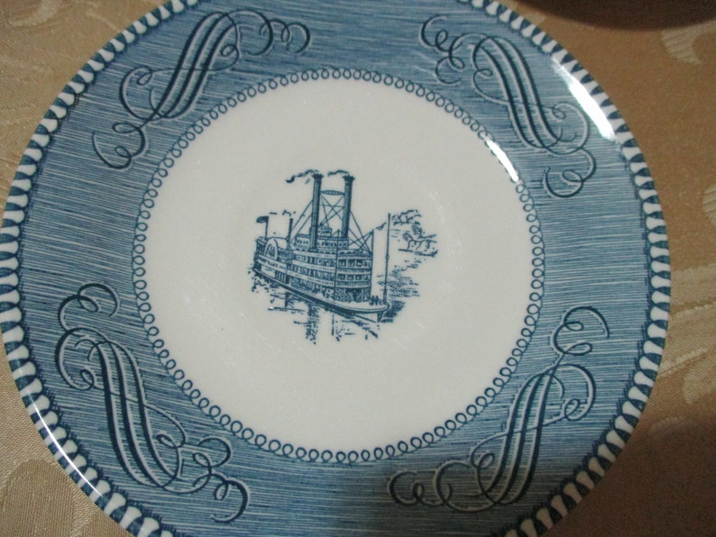 Set of Three Vintage Currier /& Ives Steamboat Cup Saucer Sets Excellent Condition