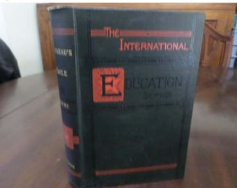 Vintage 1908 Hardcover Book Rousseau's Emile or Treatise on Education William Payne Excellent Condition